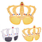 Beautiful Crown with Jewel Hen Party Costume Glasses Electroplating Sunglasses