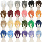 30cm New Fashion Party Short Cosplay Layered Wig Hair 24colors
