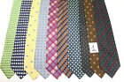 LOT OF 10 LITTLE SQUARES silk ties. E38442