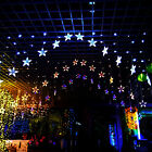 Star Xmas Curtain Fairy String Lights LED Lamp Christmas Wedding Party Decor New