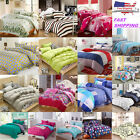 Cotton Blend Bedding Set: 1 Duvet Cover & 2 Pillowcases, Queen Size, 37 Designs image