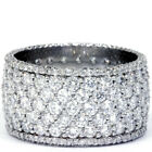 5ct Pave Diamond Eternity Ring 14K White Gold