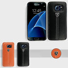 Leather Hard Back Gel Case Cover For Samsung Galaxy S7 & S7 Edge/ iPhone 6 6S