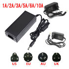 12V 2/3/5/6/8/10A Power Supply AC to DC Adapter for 5050 3528 LED Strip Light UK