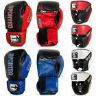 Sporteq Leather Boxing Sparring Gloves & Head Guard Set Face Protection Adults