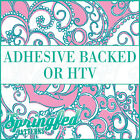 LP Inspired Anchors Pattern #1 in Pink & Turquoise Adhesive Vinyl or HTV Crafts
