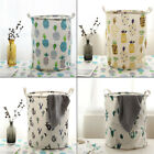 Cotton Linen Toy Dirty Clothes  Draw String Storage Bucket Box Basket Grocery