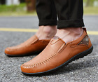 Men's Leather Slip On Casual Driving Moccasins shoes Trend Breathable Flats Shoe
