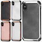 For Apple iPhone 8 IMPACT HYBRID Plating Protector Case Skin Cover +Screen Guard