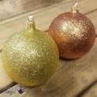 Gisela Graham Glitter Hanging Christmas Tree Decoration Ornament Bauble 100mm
