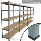 5 Tier Garage Shelving Racking Heavy Duty Steel Units Boltless Warehouse Racks