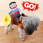 Pet Dog Halloween Fancy Costumes Riding Cowboy Knight Coat Clothes Small Large