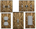 RUSTIC COUNTRY BARN DOORS HOME WALL DECOR LIGHT SWITCH PLATE