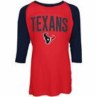Houston Texans 5Th & Ocean By New Era 17 Girls Sequin 3 4 Sleeve Raglan T-Shirt