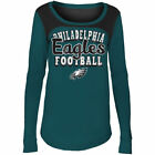 Philadelphia Eagles 5Th & Ocean By New Era 17 Girls Glitter Football  T-Shirt