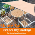 3/4M Sun Shade Sail Garden Patio PF Sunscreen Awning Canopy Screen 90% UV Block