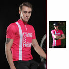 SPAKCT Cycling Summer Short Sleeves Quick Dry Breathable Anti-Sweat  Rose red