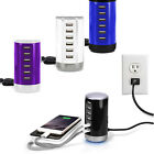 Multi 6 Port USB Charger Dock Station Wall Charger for iPad iPhone Smart Phones