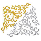 1 Pc Gold Silver Motif Flower Lace Applique Trims Badge DIY Sew Embroidery Craft