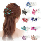 prom hair accessories silver - 20 / 40pcs Crystal BUTTERFLY Rhinestone Hair Pins Wedding Bridesmaid Bridal Prom