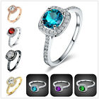 Hearts & Arrows Rings H&A Wedding Rings Engagement Crystal Rings Women In Love
