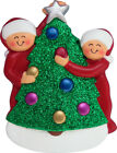 Family Decorating Tree 2 3 4 5 6 People Personalized Christmas Tree Ornament