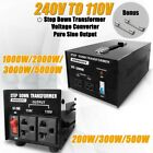 200/300/500/1000/2000/3000/5000W Stepdown Transformer 240-110V Voltage Converter