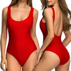 Ladies One Piece Bandage Bikini Push Up Bra Monokini Swimsuit Swimwear Bathing L
