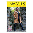McCall's 7644 Sewing Pattern to MAKE Cosplay Semi-Fitted Lined Coat Collar Vari