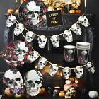 Talking Tables Gothic Halloween Sugar Skull Baroque Party Partyware Napkin Set