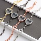 Hot Women Living Memory Crystal Heart Locket Bracelet Bangle For Floating Charms