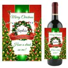 Personalised Christmas Wine Champagne Bottle Label Xmas Stocking Gift N122