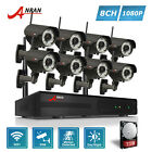 HD 8CH 1080P Wireless Security System NVR Outdoor CCTV Camera Surveillance 3TB