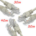 Grey Ethernet Network Cable: 30m, 40m & 50m (Computer Wired CAT5E Patch Lead)