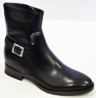 SALE! GEOX WOMENS BROGUEST CHELSEA BIKER BOOTS BNIB Black Leather Rack 2D