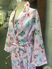 WOMENS DRESSING GOWN 'retro  chic' 100% cotton SUMMER long sleeve floral frills
