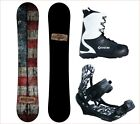 NEW 2018 Camp7 Drifter + APX Bindings and Boots Men's Complete Snowboard Package