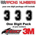 Racing Numbers Vinyl Decals Stickers boat car BMX bike off road sprint quad FRST