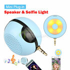Portable 3.5mm Jack Mini Stereo Plug in Speaker with Selfie Light for Phone PC