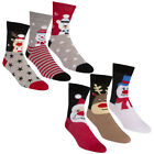 Zest Cotton Rich Ladies Festive Christmas Socks