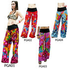 Pants PGA01 Thailand Butterfly Cotton Trousers Wide Leg Boho Gypsy Hippie Women