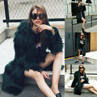 Women Pregnant Faux Fur Warm Winter Coat Hood Parka Overcoat Long Jacket Outwear