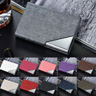 Slim Stainless Steel Pocket Credit ID Business Card Holder Box Metal Case EW