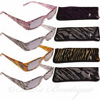 Eye Time Reading Sun Glasses Ladies Specs Case +1 Purple ET1099 Jungle