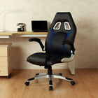 Chairs - Ergonomic Swivel Video Game Chair WRolling Wheels Flipup Armrest Lumbar Support