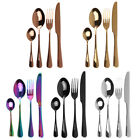24pcs Stainless Steel Tableware Cutlery Dinnerware Set Service for 6 Flatware US