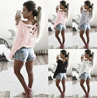 Womens Sweatshirt Blouse Ladies Casual Sleeve T-Shirt Tops S-XL