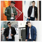 Unisexe Hommes Femmes Casual MA1 Army Flight Bomber Jacket Coat Zipper Outerwear