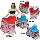 Skirt SQE01 Thai Cotton Tie-Dye Boho Gypsy Hippie Batik Long Broomstick Peasant