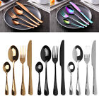 24pcs Rainbow Stainless Steel Tableware Set Flatware Dinnerware Service for 6 AU